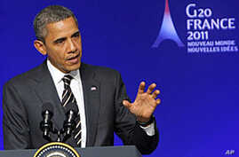 Obama Says Progress Made in Stabilizing World Economy