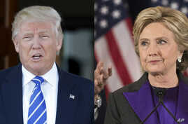 "From left, President-elect Donald Trump investigating his Democratic presidential rival, Hillary Clinton, is not something he feels ""very strongly about,"" during an interview with The New York Times in New York, Nov. 22, 2016."