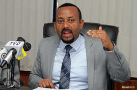 Abiy Ahmed addresses a news conference in Addis Ababa, Ethiopia, Dec. 4, 2015. Ahmed became Ethiopia's prime minister April 2, 2018, and days later Maekelawi Prison was closed.