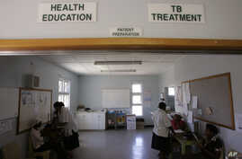 People await treatment at the Empilisweni Clinic that treat patient's for TB and HIV in Worcester, South Africa, February 4, 2008.