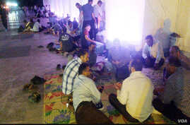 Railway workers stage an overnight sit-in at the Tabriz railway station in northwestern Iran from July 29-30, 2018. The workers have been protesting unpaid salaries and other work-related grievances. (ILNA)