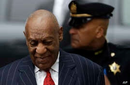 Comedian Bill Cosby arrives for a pretrial hearing in his sexual assault case, March 29, 2018, at the Montgomery County Courthouse in Norristown, Pennsylvania.