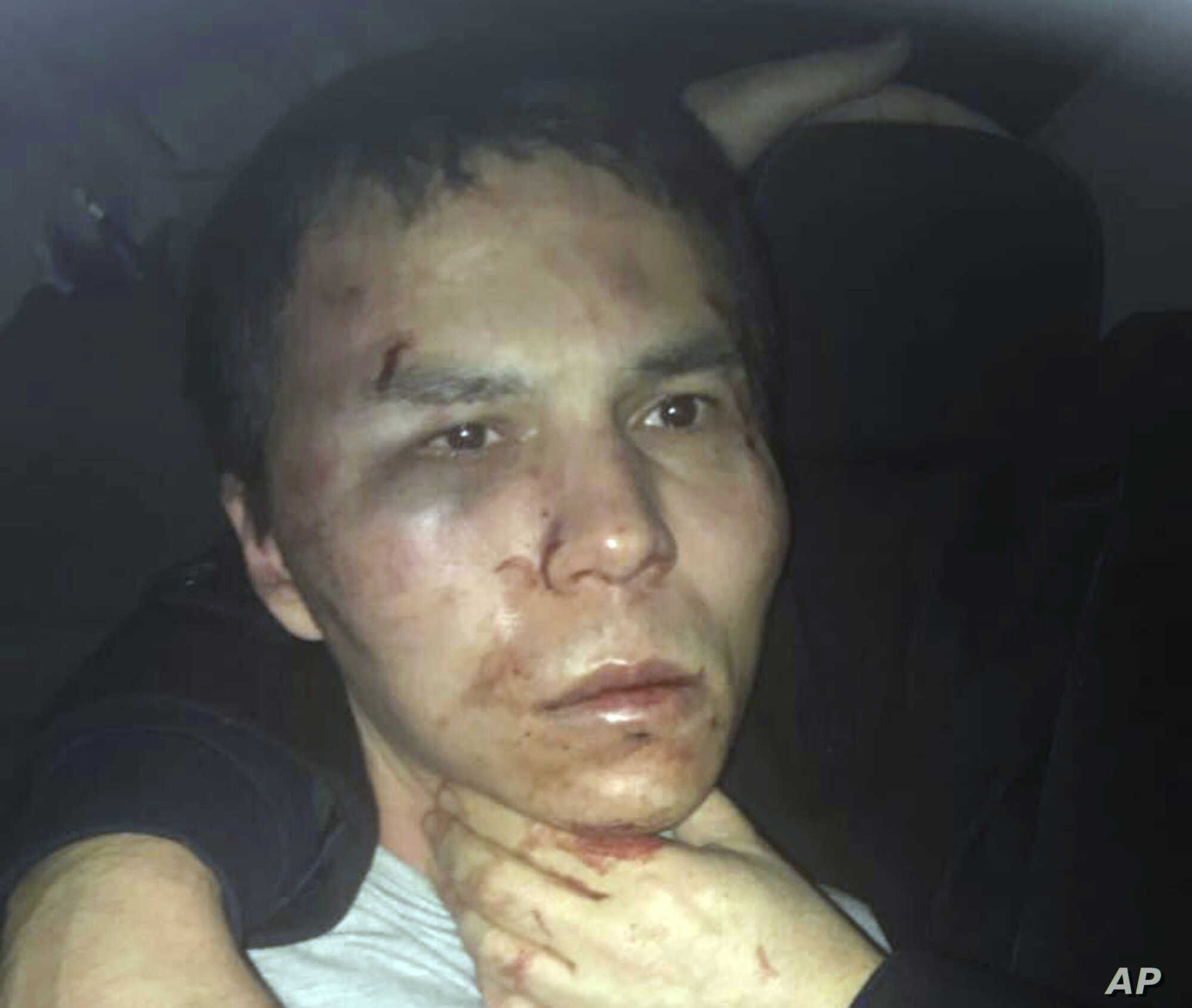 Reina club attacker after being caught by Turkish police in Istanbul, Jan. 16, 2017.