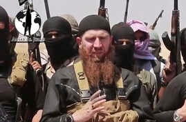 Image made from undated video posted on a social media account frequently used for communications by the Islamic State of Iraq and the Levant (ISIL), which has been verified by AP.