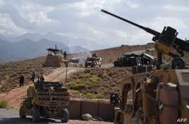 U.S. Army from NATO and Afghan commando forces are seen in a checkpoint during a patrol against Islamic State militants at the Deh Bala district in the eastern province of Nangarhar Province, July 7, 2018.