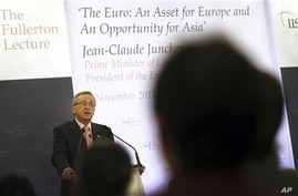 Jean-Claude Juncker, prime minister of Luxembourg and president of the Eurogroup, Singapore, Nov. 6, 2012.