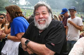 Steve Wozniak attends Outside Lands Music Festival at Golden Gate Park,  Aug. 8, 2015, in San Francisco, Calif.