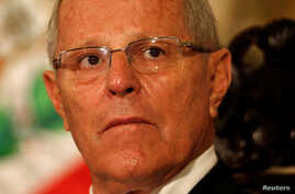 Peru's President Pedro Pablo Kuczynski attends a binational cabinet meeting at the Government Palace in Lima, Peru, July 7, 2017.