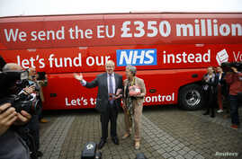 Former London Mayor Boris Johnson speaks at the launch of the Vote Leave bus campaign, in favour of Britain leaving the European Union, in Truro, Britain, May 11, 2016.