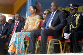 Democratic Republic of the Congo's President Joseph Kabila and First Lady Marie Olive Lembe attend the anniversary celebrations of Congo's independence from Belgium in Kindu, the capital of Maniema province in the Democratic Republic of Congo, June 3