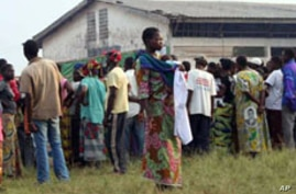 Refugees from Democratic Republic of Congo (DRC) at the Falco site, Betou in the Republic of Congo, Nov. 2009, to escape inter-ethnic violence in recent weeks in neighbouring DRC