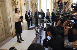 Permanent Secretary of the Swedish Academy Sara Danius announces that Bob Dylan is awarded the 2016 Nobel Prize in Literature during a presser at the Old Stockholm Stock Exchange Building in Stockholm, Sweden, Oct. 13, 2016.