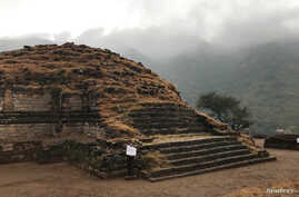 A general view of main stupa, is seen after it was discovered and unveiled to the public, during a ceremony at the Buddhist-period archeological site near Haripur, in Khyber Pakhtunkhwa (KPK) province, Pakistan, Nov. 15, 2017.