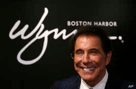 FILE - aCasino mogul Steve Wynn during a news conference in Medford, Mass., March 15, 2016.