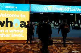 Exhibitors arrive to set up for the opening event at the CES consumer electronics show where thousands of companies showcase the latest in technology in Las Vegas, Nevada, U.S., January 7, 2018.