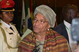 Liberia President, Ellen Johnson Sirleaf, is photographed after the ECOWAS Heads of State and Government summit in Abuja, Nigeria, Dec. 17, 2016.