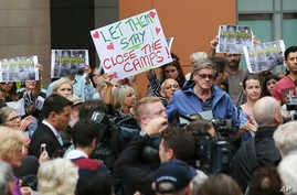 Protestors against asylum seekers being deported, gather for a rally in Sydney, Australia, Feb. 4, 2016.