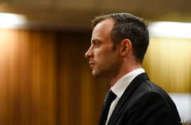 Oscar Pistorius pauses in the dock at the High Court in Pretoria, South Africa, Tuesday Dec. 8, 2015.