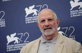 Director Brian De Palma poses at the photo call for the film De Palma and for the Glory To The Filmmaker Award 2015 at the 72nd edition of the Venice Film Festival in Venice, Italy, Sept. 9, 2015.