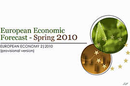Cover of European Commission's new economic forecast