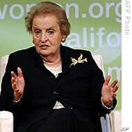 Exhibit Underscores Role of Madeline Albright's Pin Collection