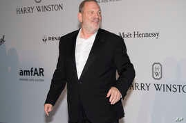Harvey Weinstein poses for photographers upon arrival at the amfAR charity gala during the Cannes 70th international film festival, Cap d'Antibes, southern France, May 25, 2017.