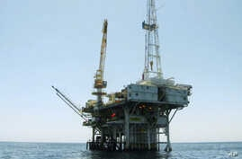 FILE - Platform Holly, an oil drilling rig in the Santa Barbara Channel offshore of Goleta, Calif., will be decommissioned and its operator is seeking bankruptcy protection nearly two years after the platform was idled when an onshore pipeline ruptur