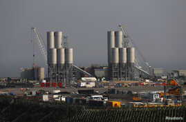 The Hinkley Point C nuclear power station site is seen near Bridgwater in Britain, Sept. 14, 2016.