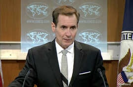"""U.S. State Department spokesman John Kirby speaks during a press briefing in Washington, D.C., July 1, 2016. Friday Kirby said that """"it's common, practical practice"""" for politically appointed ambassadors to resign their posts when administrations cha..."""