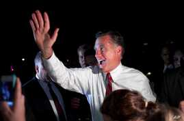 Republican presidential candidate, former Massachusetts Gov. Mitt Romney greets a group of supporters gathered outside his fundraising event on Monday, Aug. 20, 2012 in New Orleans, Louisiana.