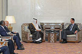 Syrian Leader Meets With Arab Officials Trying to Halt Violence
