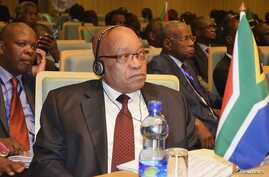 South Africa's President Jacob Zuma attends the leaders meeting at the African Union (AU) in Ethiopia's capital Addis Ababa July 14, 2012.