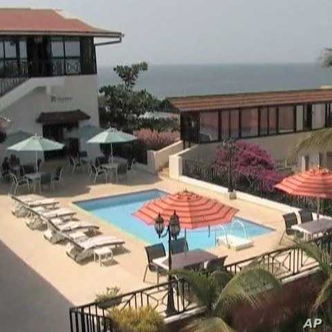A tourist resort in Sierra Leone
