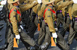 Soldiers march during the Army Day parade in New Delhi Jan 15 2011