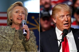 U.S. Presidential Candidates Hillary Clinton, left, and Donald Trump