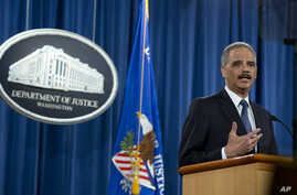 Attorney General Eric Holder speaks at the Justice Department in Washington, March 4, 2015, about the Justice Department's findings related to two investigations in Ferguson, Missouri.
