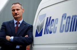 Richard Bunce, managing director of Mec Com Ltd, poses for a photograph at their factory near Stafford, central England, Dec. 15, 2016.