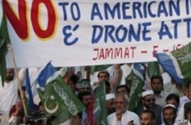 Pakistanis, Angered by US Drone Strikes, Block NATO Supply Route