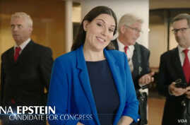 Michigan Republican candidate Lena Epstein in a screenshot from a campaign television ad.