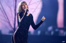 Taylor Swift performs at the 58th annual Grammy Awards, Feb. 15, 2016, in Los Angeles.