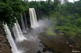 FILE - Ikom waterfall is seen in Nigeria's Delta region, July 16, 2007.
