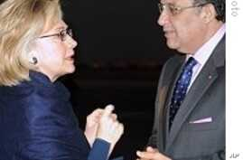 Clinton in Morocco for Talks on Middle East