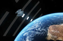 FM radio waves bouncing of a piece of space debris provide a way for scientists to track potentially harmful junk (ARC Center of Excellence for All-sky Astrophysics)