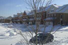 The storm is the second in a month to hit the Washington area, dumping 20 centimeters of snow, 31 Jan 2010