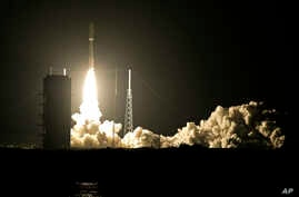 FILE - A United Launch Alliance Atlas V rocket lifts off from Complex 41 at the Cape Canaveral Air Force Station, Wednesday, Sept. 2, 2015, in Cape Canaveral, Fla.