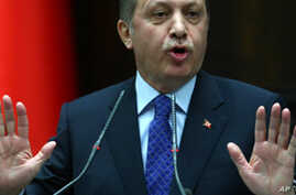 Turkey's Prime Minister Recep Tayyip Erdogan addresses law