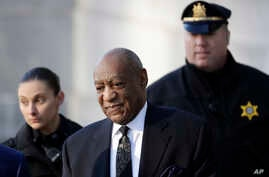 Bill Cosby arrives for a pretrial hearing in his sexual assault case at the Montgomery County Courthouse, Tuesday, March 6, 2018, in Norristown, Pennsylvania.