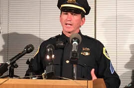 Des Moines Police Sgt. Paul Parizek speaks during a news conference, Nov. 2, 2016, after two police officers in the Des Moines area were shot to death in ambush-style attacks.