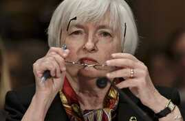 Federal Reserve Chair Janet Yellen delivera semiannual Monetary Policy Report to Congress, Capitol Hill, Washington, Feb. 27, 2014.