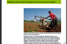 Oxfam Says World's Poorest Excluded From Climate Change Funds